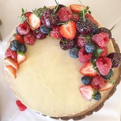 Fruit crescent wedding cake