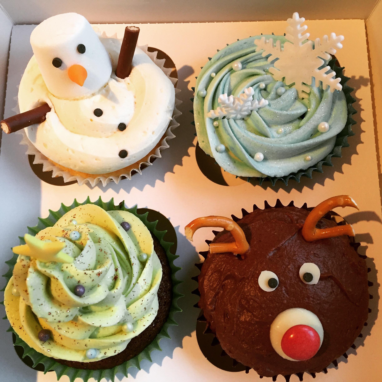 Christmas cupcakes Ashbourne