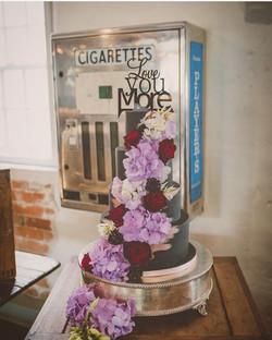 Modern gothic wedding cake