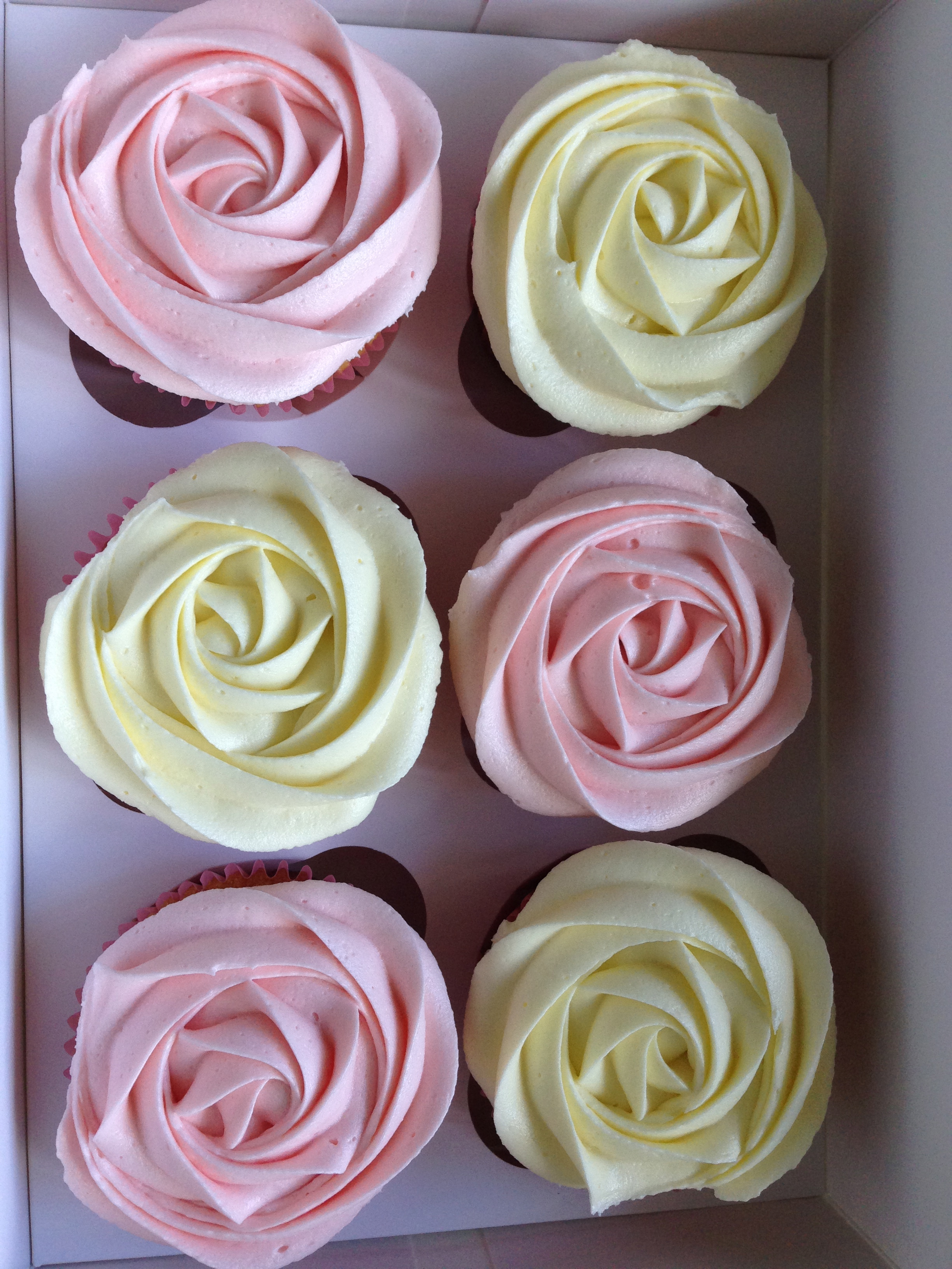 Rosette swirl cupcakes