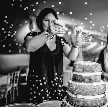 naked wedding cake Ashbourne
