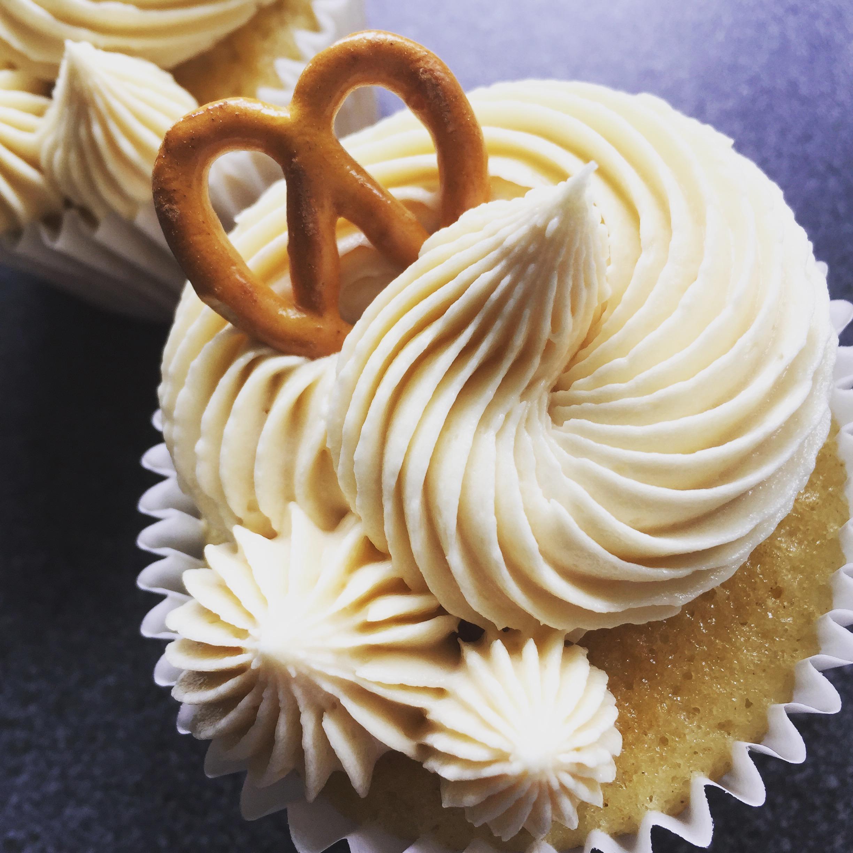Salted caramel cupcake