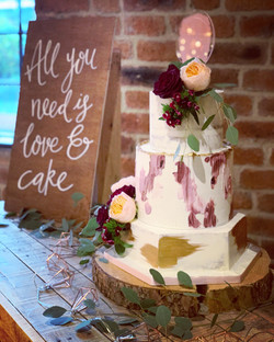 Autumn buttercream wedding cake