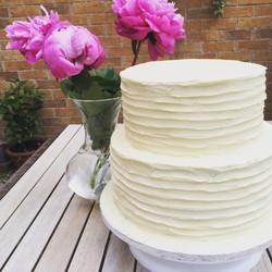 Ivory buttercream wedding cake