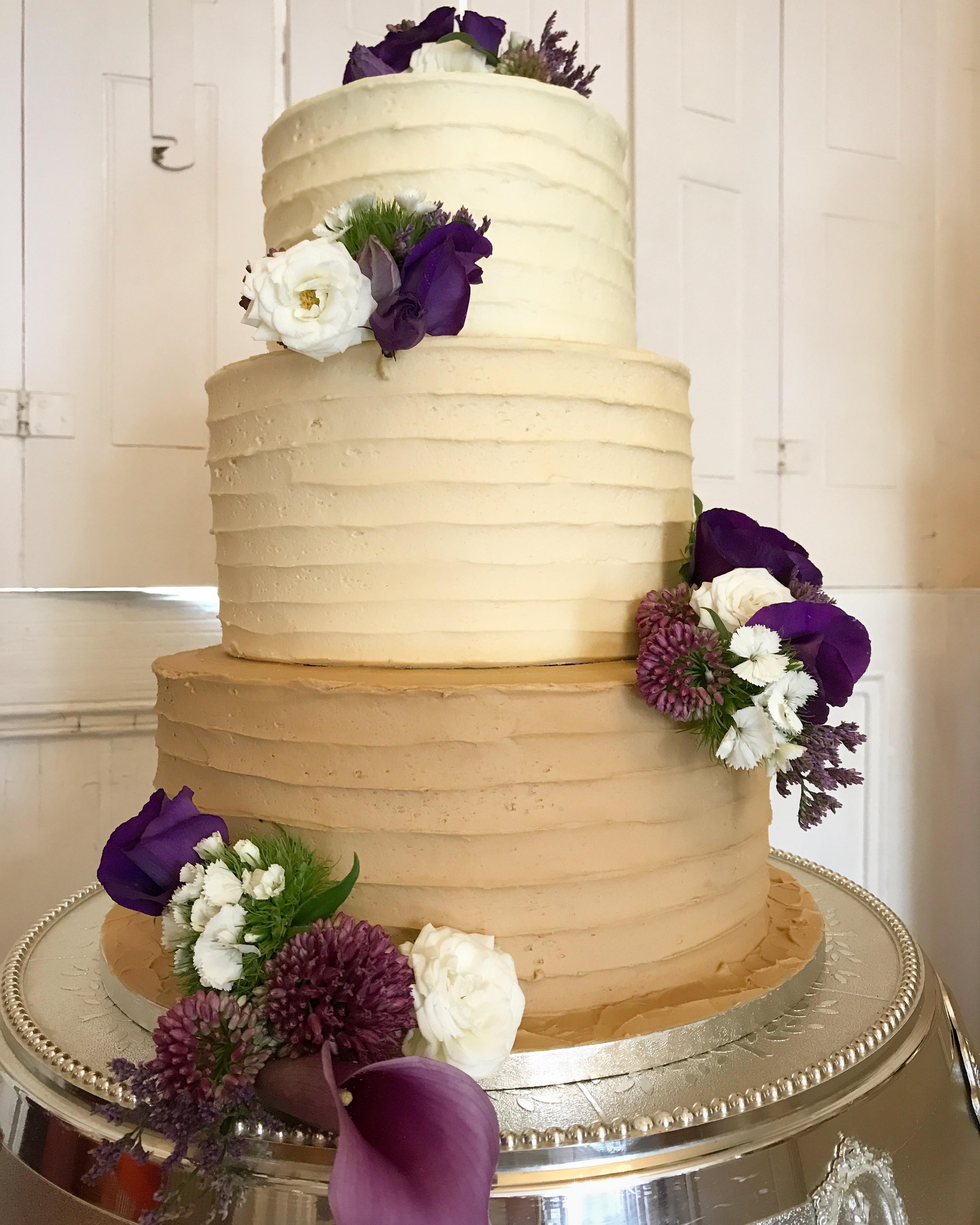 Ombre buttercream wedding cake