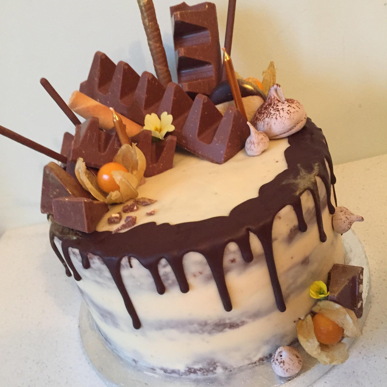 Toblerone chocolate drip cake