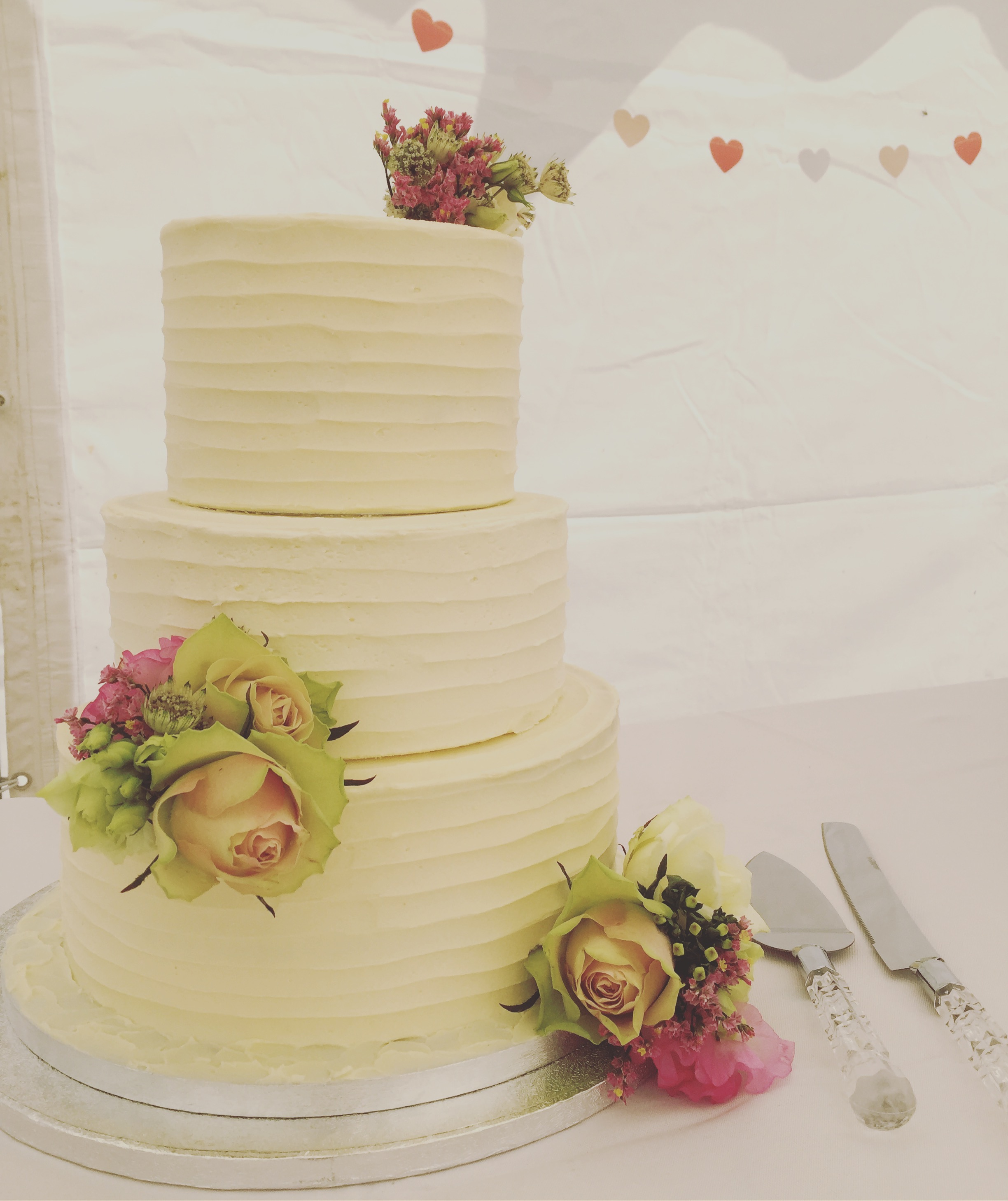 Tiered buttercream wedding cake
