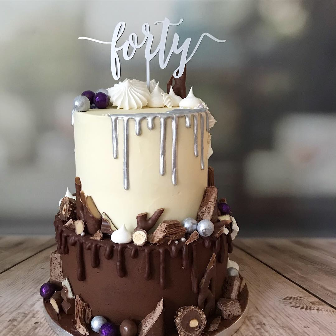 Fortieth drip cake