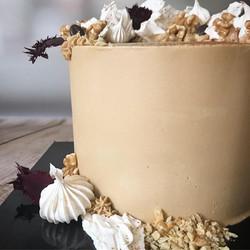 Coffee & walnut cake