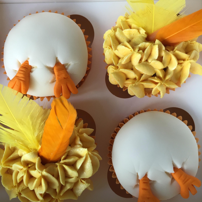 Chick cupcakes
