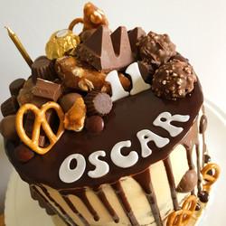 Chocolate & nut drip cake