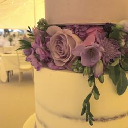 Lilac buttercream wedding cake