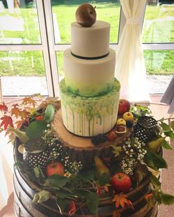 Autumn harvest wedding cake
