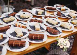 Cut wedding cake