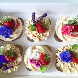 Assorted summer garden cupcakes