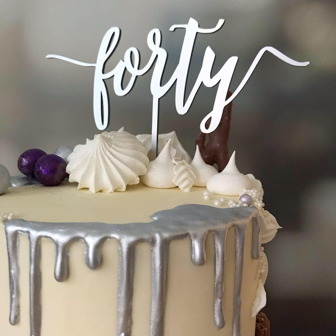 Fortieth birthday cake