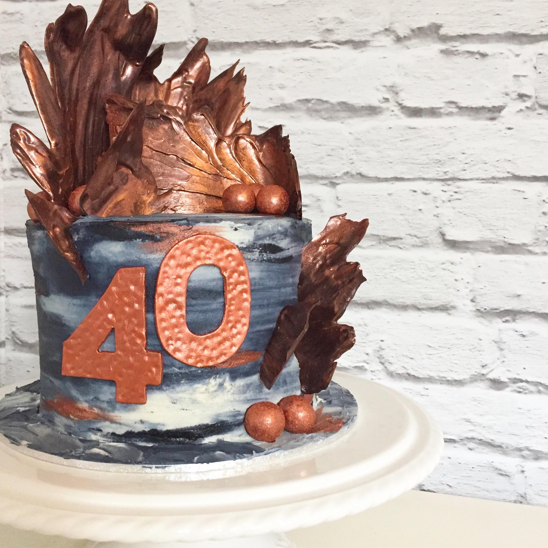 Monochrome & copper cake