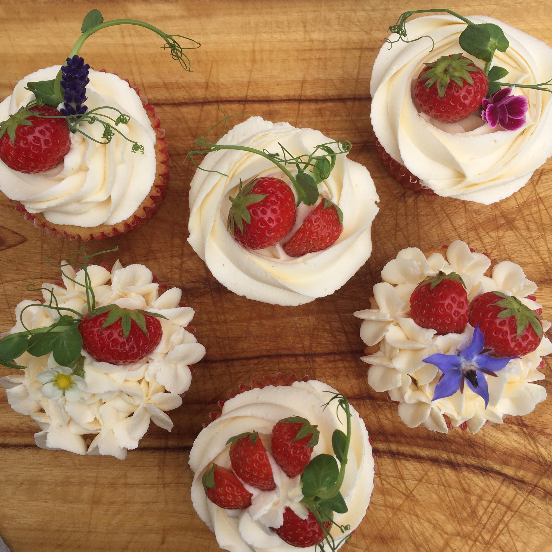 Summer Garden cupcakes