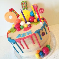 Bubblegum & gobstopper cake