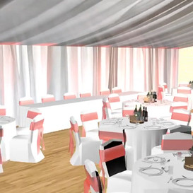 3D design of a wedding reception