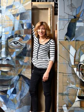 Atelier, Frida & Diego 200x200 cm