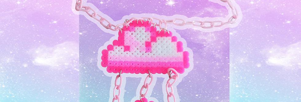 Cloud Perler bead Necklace