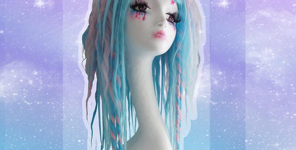 Blue & Pink Dreadlock Wig