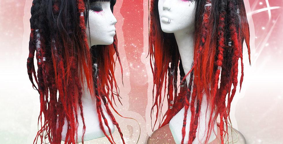 Black & Red Dreadlock Wig