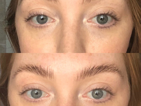 This brow transformation is after applying my 'Brow gel'. Not only does it shape and style the brows and hold them in place all day.. it conditions them and promotes hair growth.