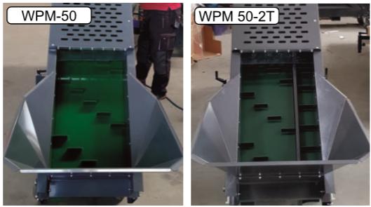 WMP 50 vs WMP 50-2T, rozdíl v dopravníku