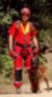 Malinois chien de sauvetage à l'élevage De La Noire Alliance