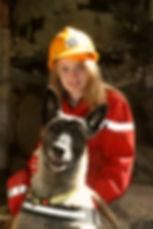 Akena chienne de sauvetage