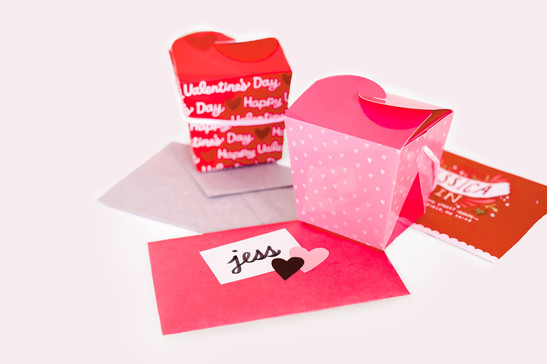 Valentine's Takeout Boxes