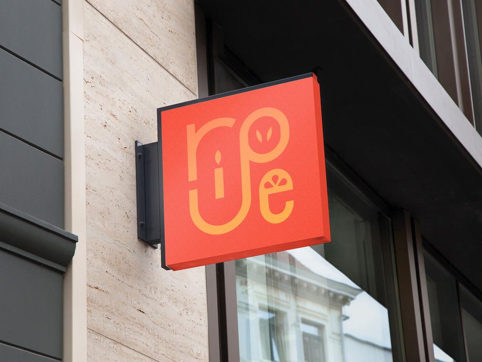 Ripe Store Sign Mockup