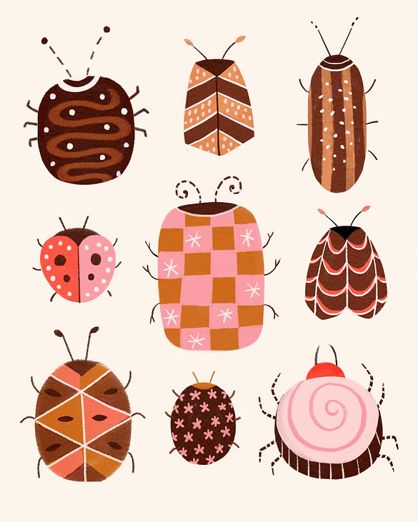 colorful bugs drawing