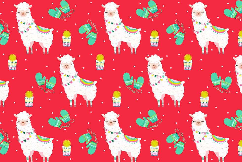 Llama Gift Wrap