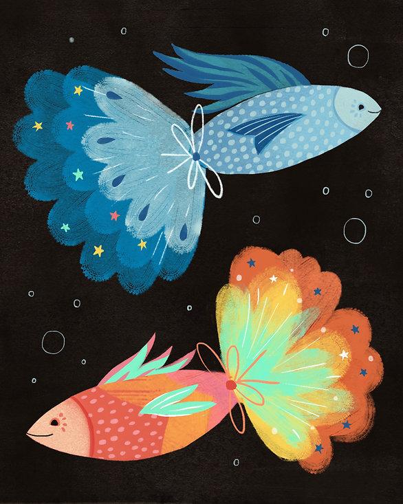 colorful fish drawing