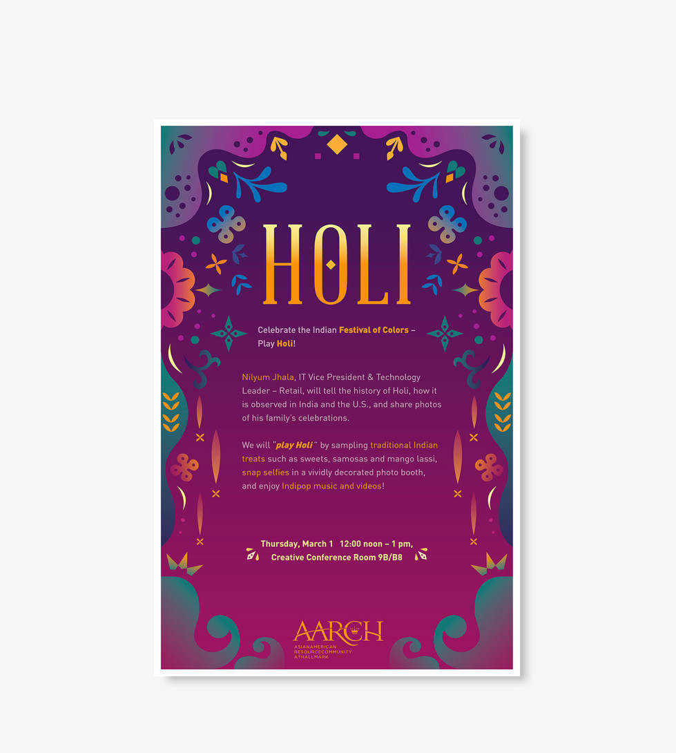 AARCH Holi Poster