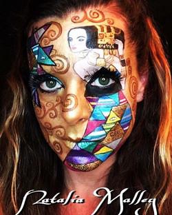 Klimt Inspired Face Art