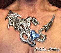 Jeweled Dragon Décolletage
