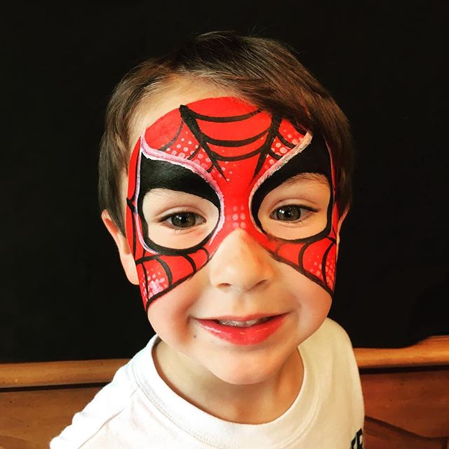 Spider-Man Face Paint