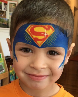 Super Man Face Painting