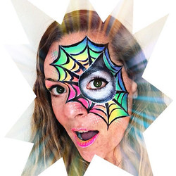 Pop Art Rainbow Spiderman Eye