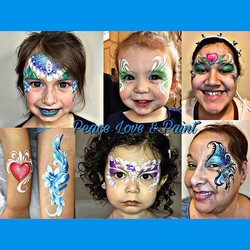 Pretty Girls Face Paintings