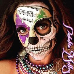 Mardi Gras Skull face art