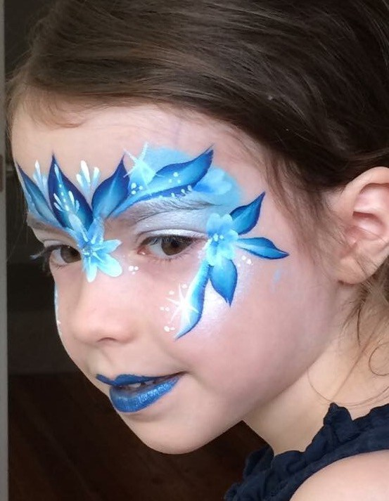 Frozen Princess face painting