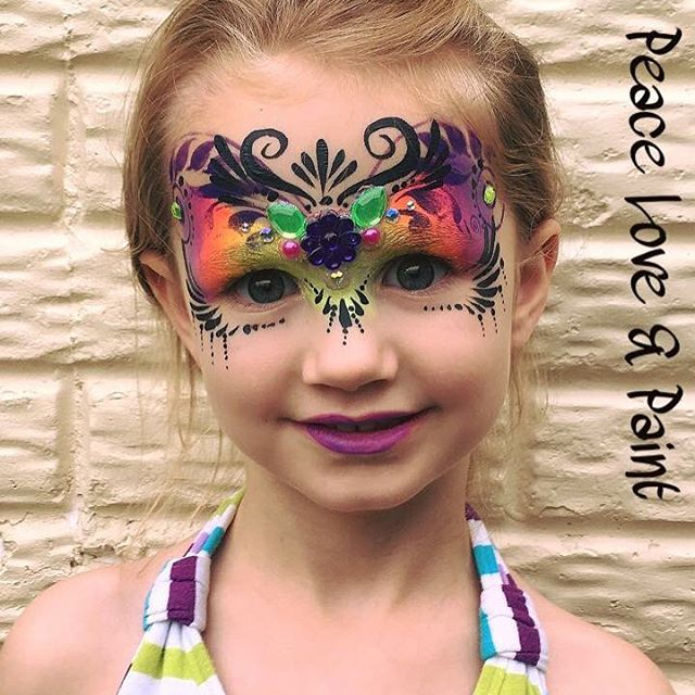 Rainbow Mask with Bling