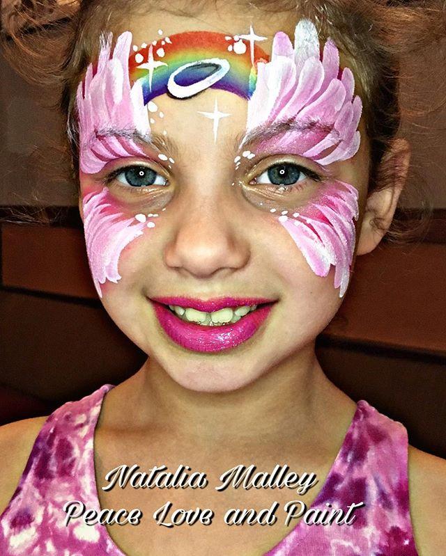 Rainbow Angel face art