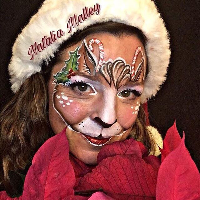 Reindeer Face Painting