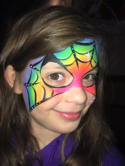 Rainbow Spiderman Face Paint
